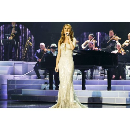 Celine Dion By Piano 24X36 Poster