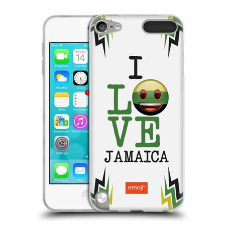 OFFICIAL EMOJI I LOVE MY COUNTRY SOFT GEL CASE FOR APPLE IPOD TOUCH
