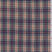 Tan Multi Plaid Shirting, Fabric By the Yard