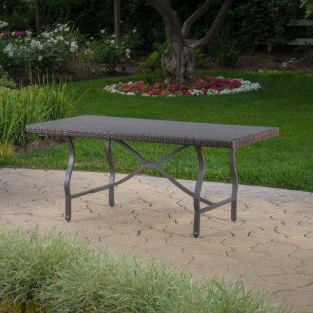 Costa Mesa Outdoor Wicker Dining Table