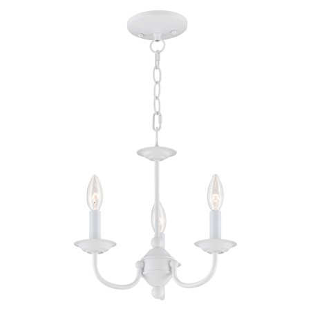 - Livex Lighting Home Basics 3 Light Mini Chandelier