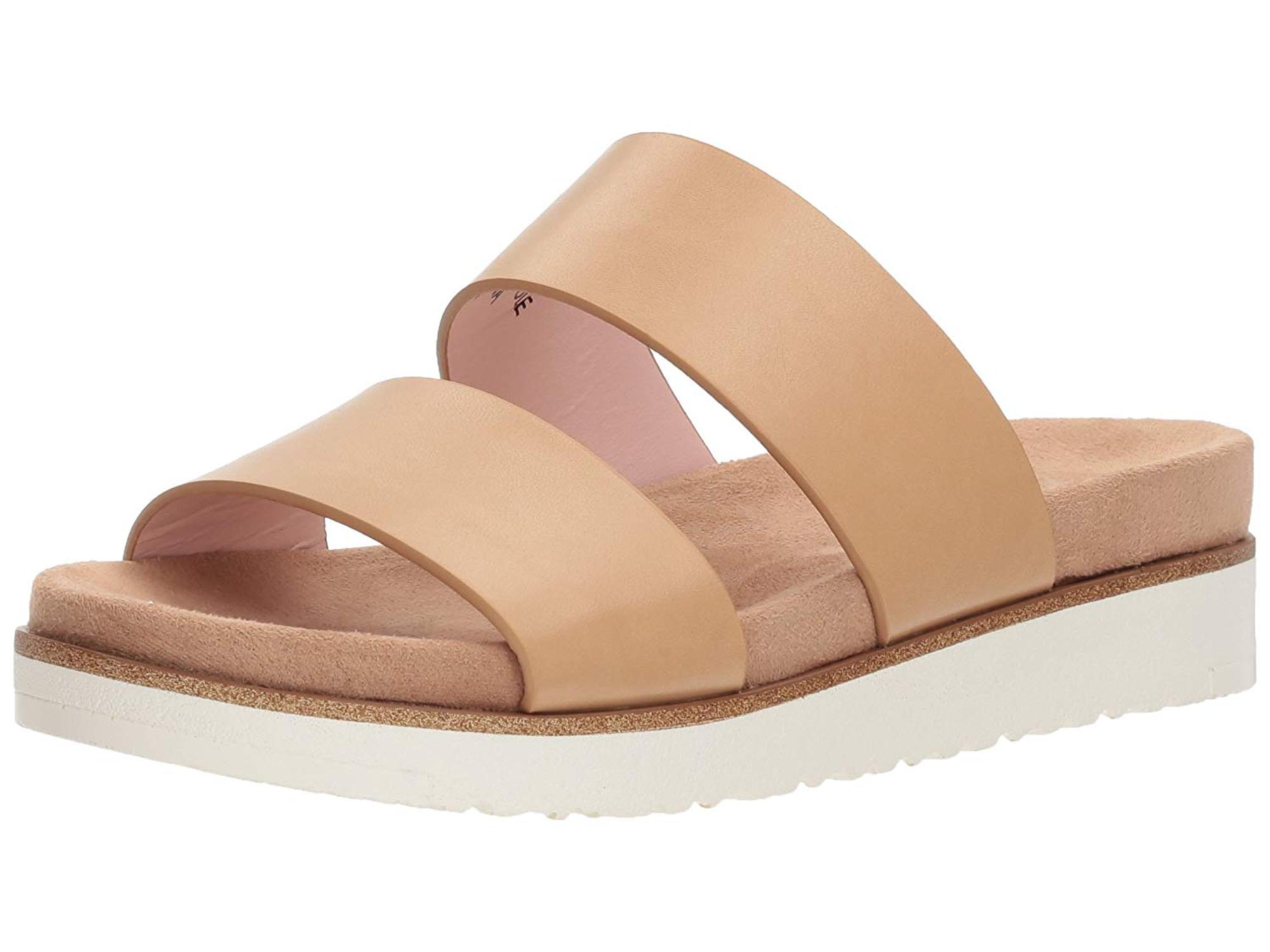 Dylan Slide Sandal, Nude, Size 7.5
