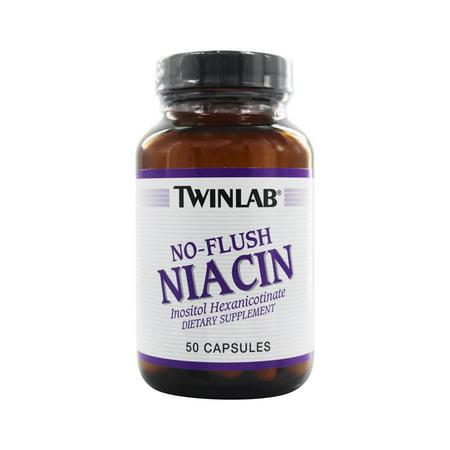 - Twinlab No-Flush Niacin Capsules, 50 Ct