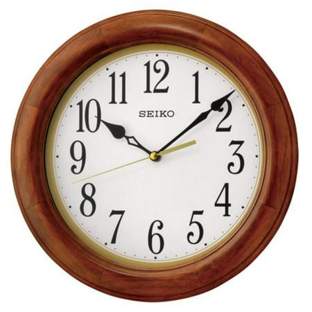 Seiko Light Brown Wall Clock - 11.5 diam. In.