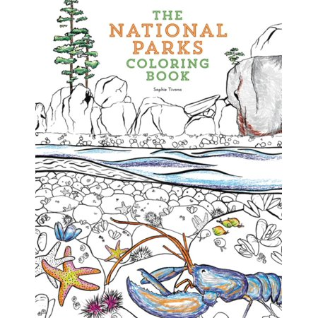NATIONAL PARKS COLORING BOOK THE
