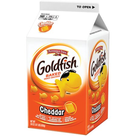 Merlot Cheddar - Pepperidge Farm Goldfish Cheddar Crackers, 30 oz. Carton
