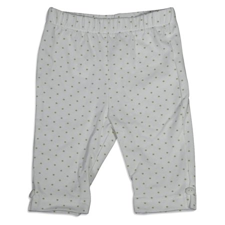 Girls Elastic Waist Pants - Mulberribush Infant Girls Polka Dot Elastic Waist Capri Cropped Pant Bottoms, 27010 White Polka Dot / 12Months