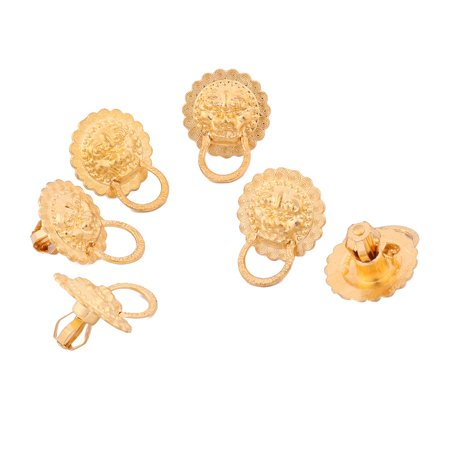 Lion Drawer (Uxcell Suitcase Box Wardrobe Drawer Decor Lion Head Ring Pull Handle 6pcs )