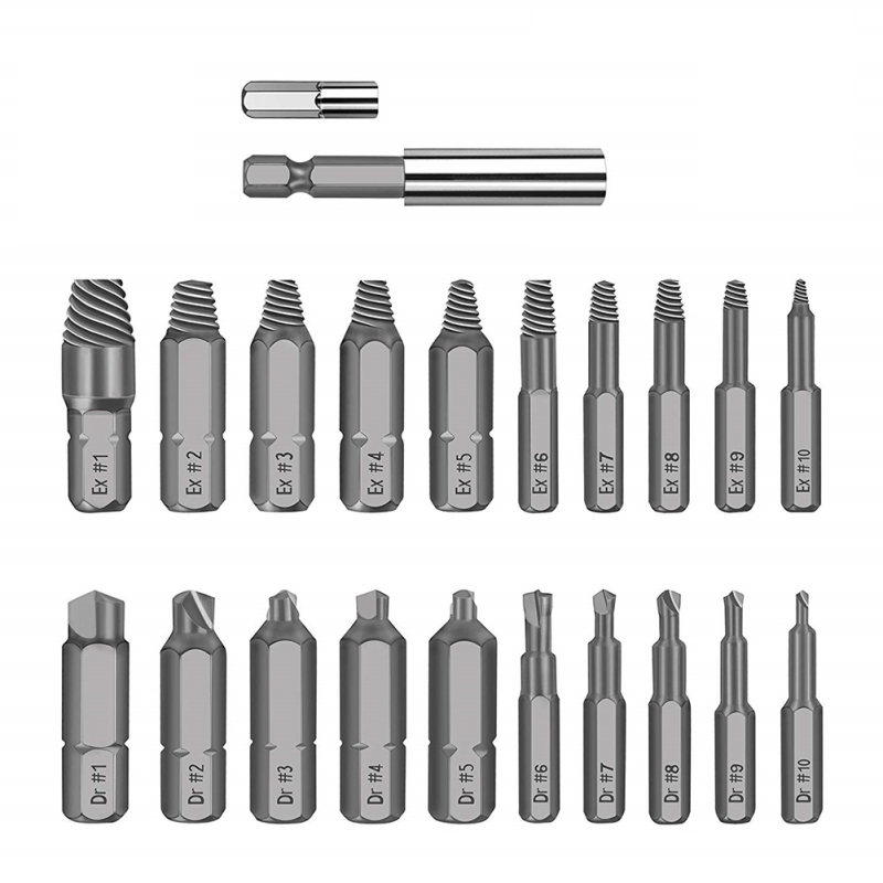 22*Damaged Broken Screw Extractor Drill Drive Bit Stud Bolt Remover Easy Out/_Set