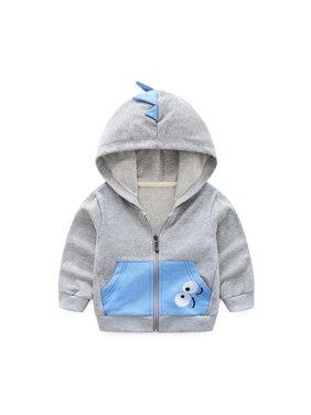Kids Baby Boys Cartoon Pockets Hoodie Jacket