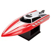 POCO DIVO 2.4Ghz Vector28 Pool Racer RC 20mph High Speed Boat Radio Control Mini Racing Yacht, Red