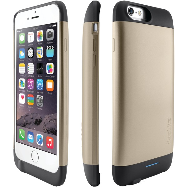 "Ibattz Ib-rv6-gld-v1 Iphone 6 4.7""/6s Refuel Invictus 3,200mah Battery Charger Case (gold)"