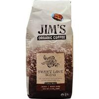 Jim's Organic Coffee Sweet Love Blend Whole Bean Dark, 11.0 OZ