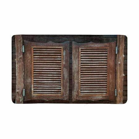 MKHERT Old Western Cowboy Bar Swinging Saloon Doors Doormat Rug Home Decor Floor Mat Bath Mat 30x18 inch (Old Western Saloon Decor)