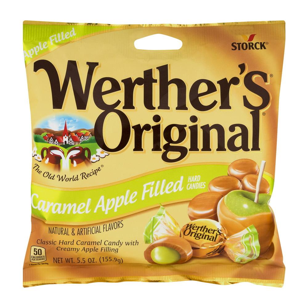 (4 Pack) Werther's Original, Caramel Apple Filled Hard Candy, 5.5 Oz
