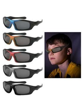 4 Pc Kids Sport Wrap Frame Sunglasses Polarized Baby Toddler Boys Girls Glasses