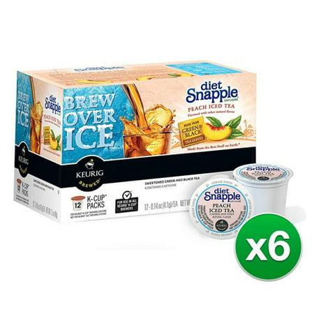 Original Snapple Peach Iced Tea 12ct for Keurig (6-Pack) Original Snapple Peach Iced Tea -
