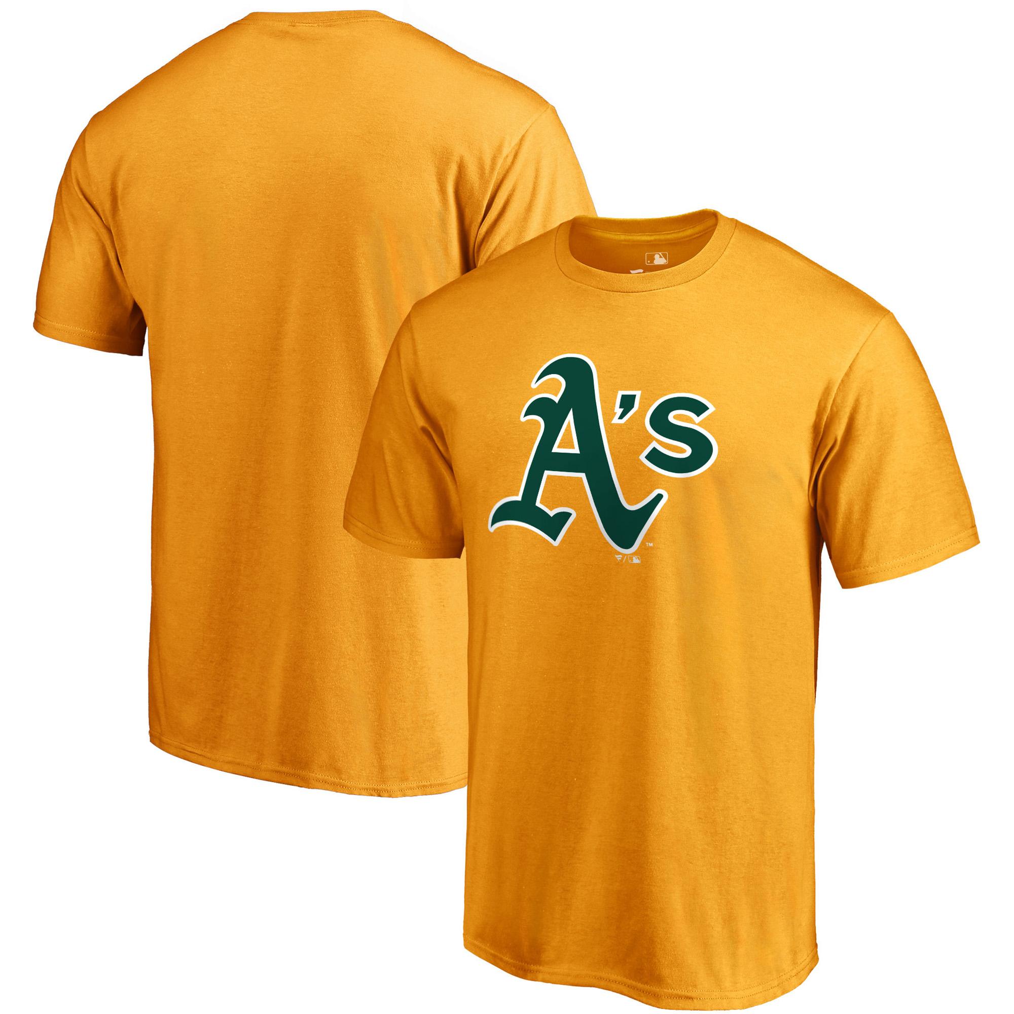 Oakland Athletics Fanatics Branded Primary Logo T-Shirt - Gold