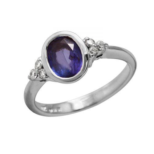 Ladies 1.4 Carat Tanzanite And Diamond 14K White Gold Ring by Generic