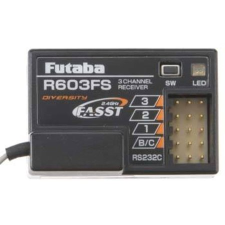 R603FS 2.4GHz FASST 3Ch Rx 3PK 4PK 3PM