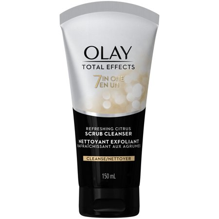 - Olay Total Effects Refreshing Citrus Scrub Facial Cleanser, 5.0 fl oz