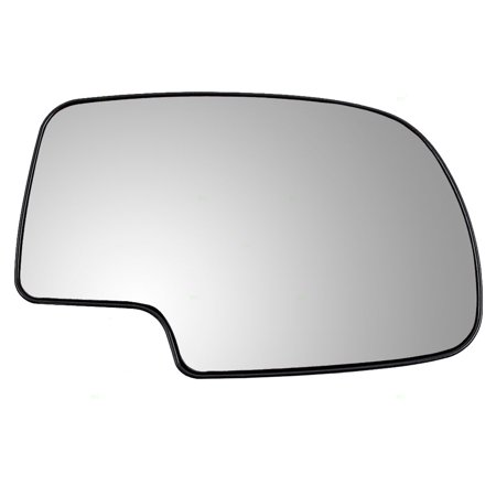 BROCK Power Side View Mirror Glass with Base Passenger Replacement for Chevrolet Silverado Suburban Tahoe GMC Sierra Yukon SUV Pickup Truck 12477844
