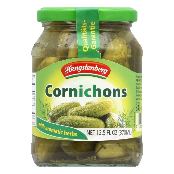 Hengstenberg Cornichons, 12.5 OZ (Pack of 12)