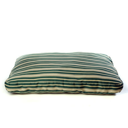 Carolina Pet Company Indoor Outdoor Striped Dog Bed In Green