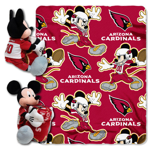 Mickey Mouse Pillow with Fleece Throw Blanket Set