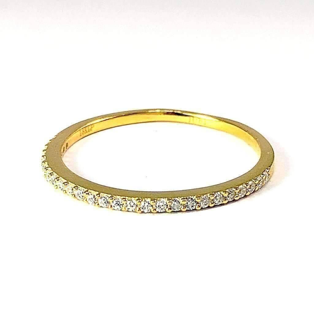 Diamond Rings For Sale Walmart: Lillianne .22CT Pavé Band IOBI Simulated
