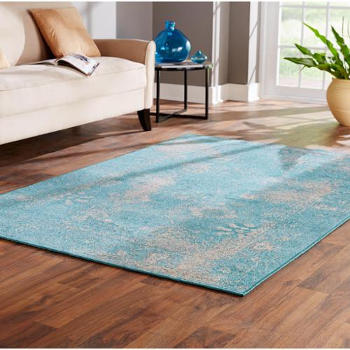 Style Haven Over-dyed Distressed Traditional Teal/ Beige Area Rug (Multiple Size Options)