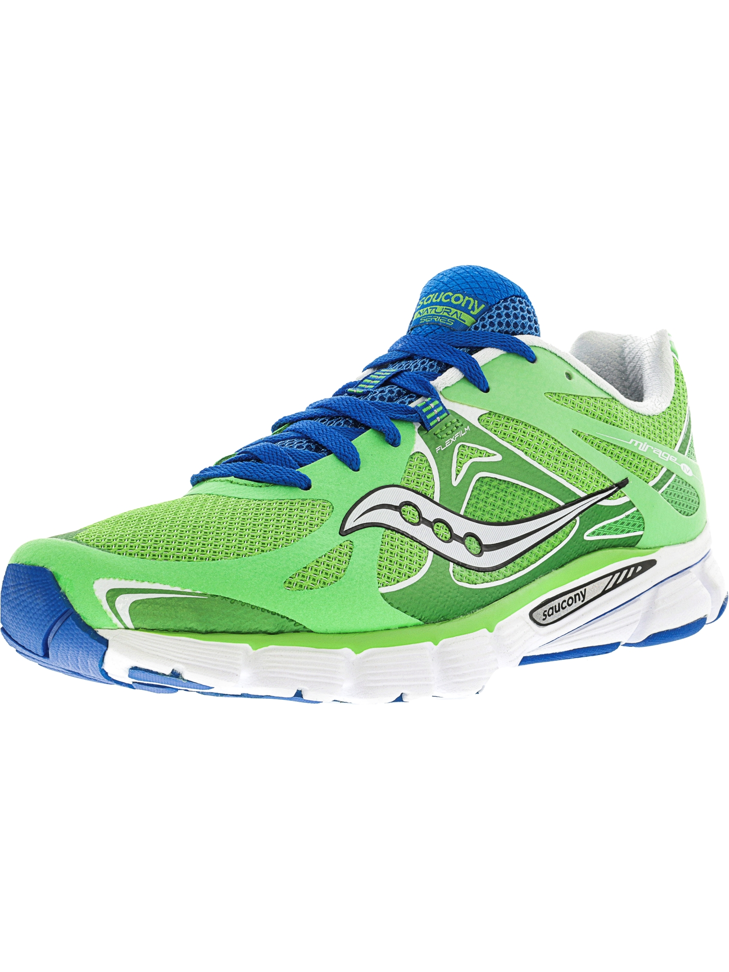 Saucony Women's Mirage 4 Green / Blue Ankle-High Running Shoe - 7.5M