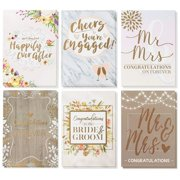 Best Wedding Cards - Wedding Greeting Cards - 36-Pack, 6 Rustic Designs Review