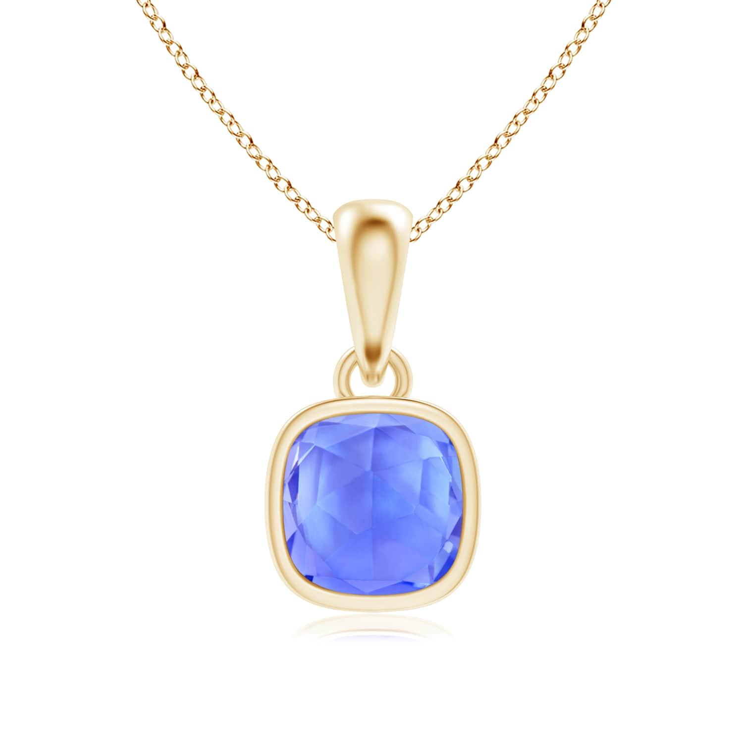 Angara Tanzanite Bezel-Set Pendant in 14k Yellow Gold Pr3CjNr