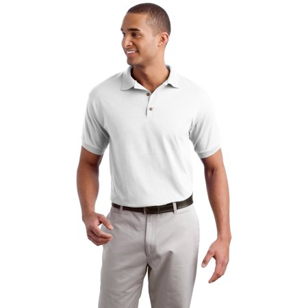 8800 DryBlend Jersey Knit Sport Shirt -White-Small