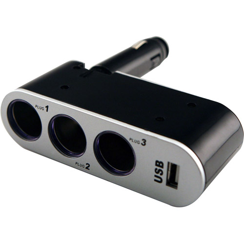 Sentry Auto Pro Triple Car Plug with 1 USB Port