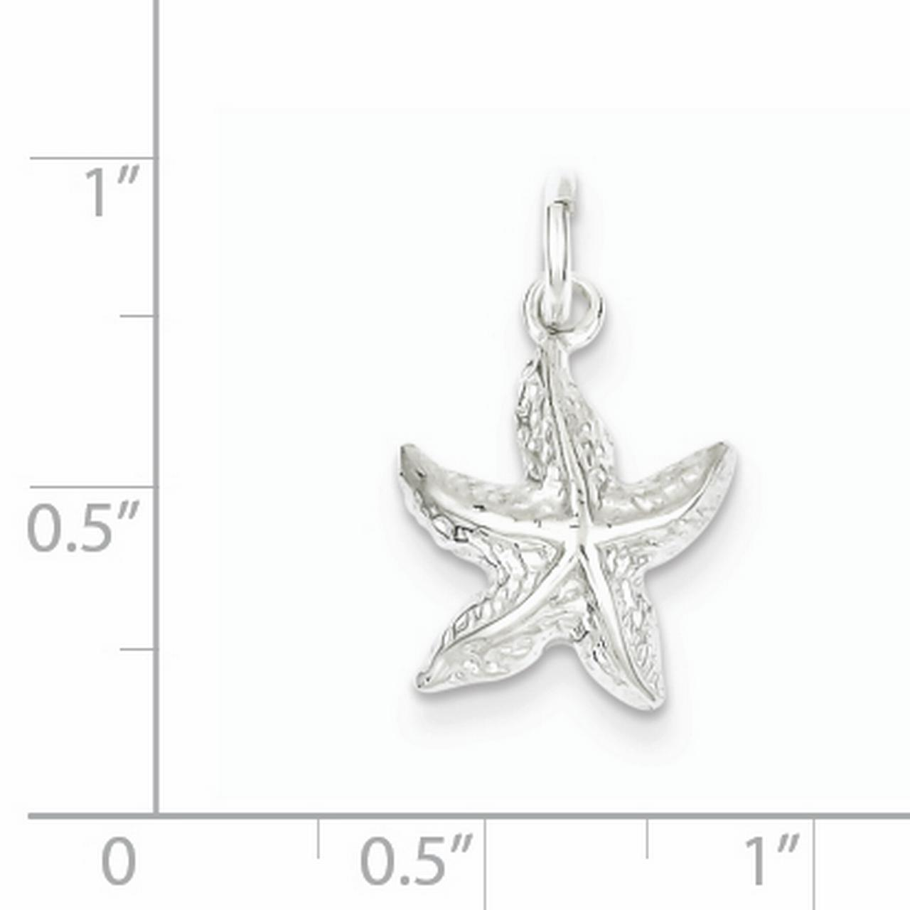 Sterling Silver Starfish Charm QC954 (17mm x 13mm) - image 1 of 2