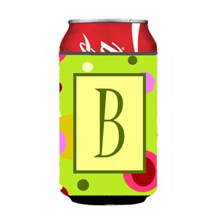 Letter B Initial Monogram - Green Can or Bottle  Hugger - image 1 de 1