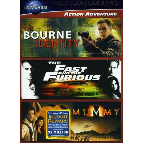 Action Adventure Spotlight Collection: The Bourne Identity   The Fast And The Furious   The Mummy (1999) (With... by UNIVERSAL HOME ENTERTAINMENT