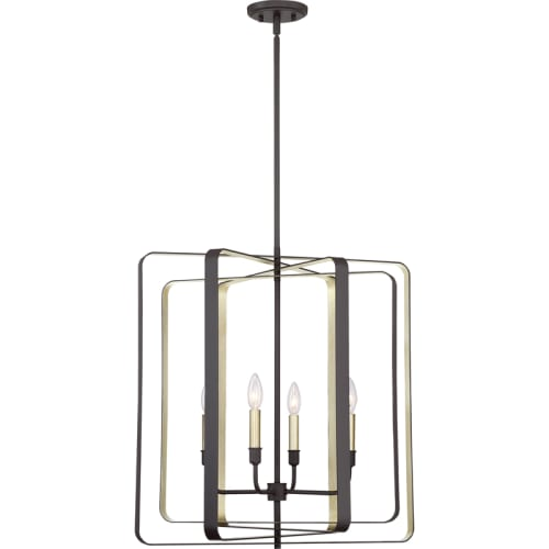 """Quoizel CCE5204 Cycle 4 Light 24"""" Wide Chandelier by Quoizel"""