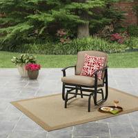 Mainstays Belden Park Outdoor Glider Chair for Patio and Garden, Beige