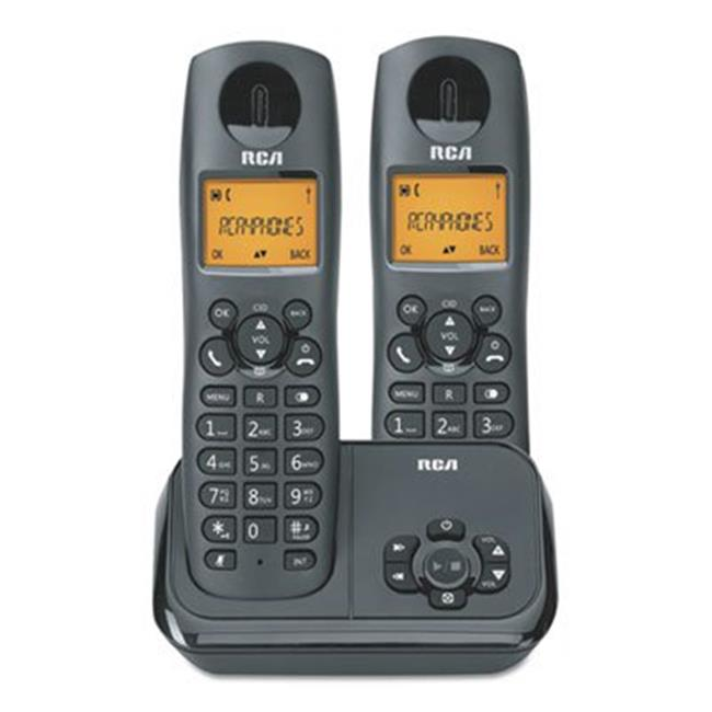 RCA 21623BKGA 2162 Series One Line Cordless Phone, 2 Handsets - Black