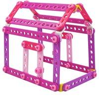 Meccano Erector 100 Piece Pink and Purple Building Set Box