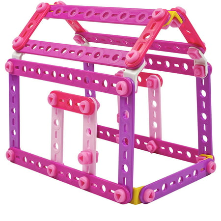 Erector Sets For Adults (Meccano Erector 100 Piece Pink and Purple Building Set)