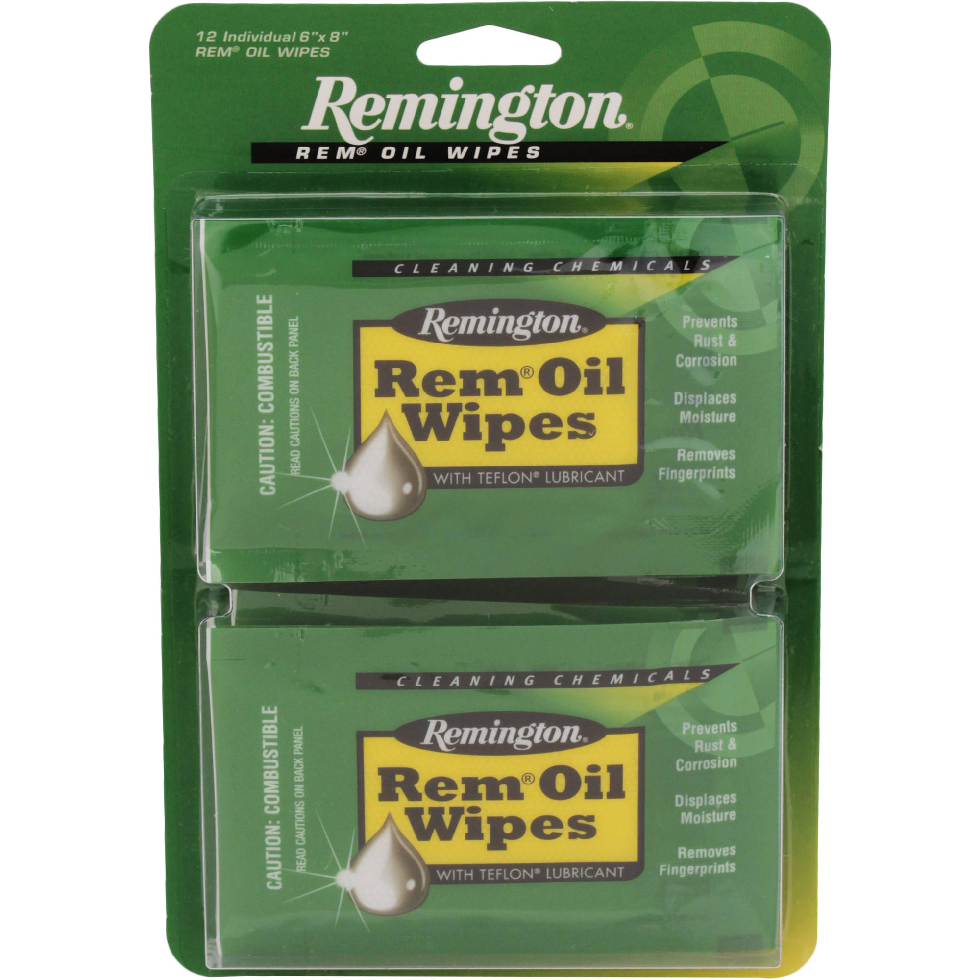"Remington Accessories Rem Oil 6"" x 8"" Wipes, 12 Count"