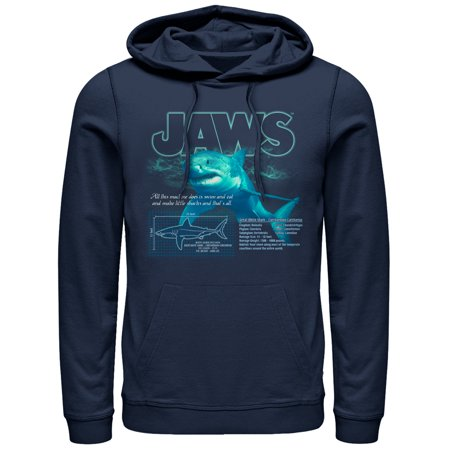 Jaws Men's Shark Blueprint - Shark Hoodie Halloween