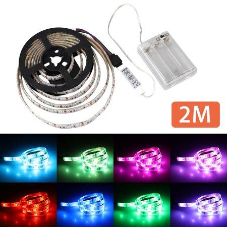 Waterproof SMD5050 LED Strip Lights Battery Operated 3.3Ft/6.6Ft Led Flexible Light Strip Crafts Lighting (Multicolor) ()