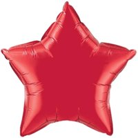 Qualatex 15263 20 in. Ruby Red Star Foil Balloon