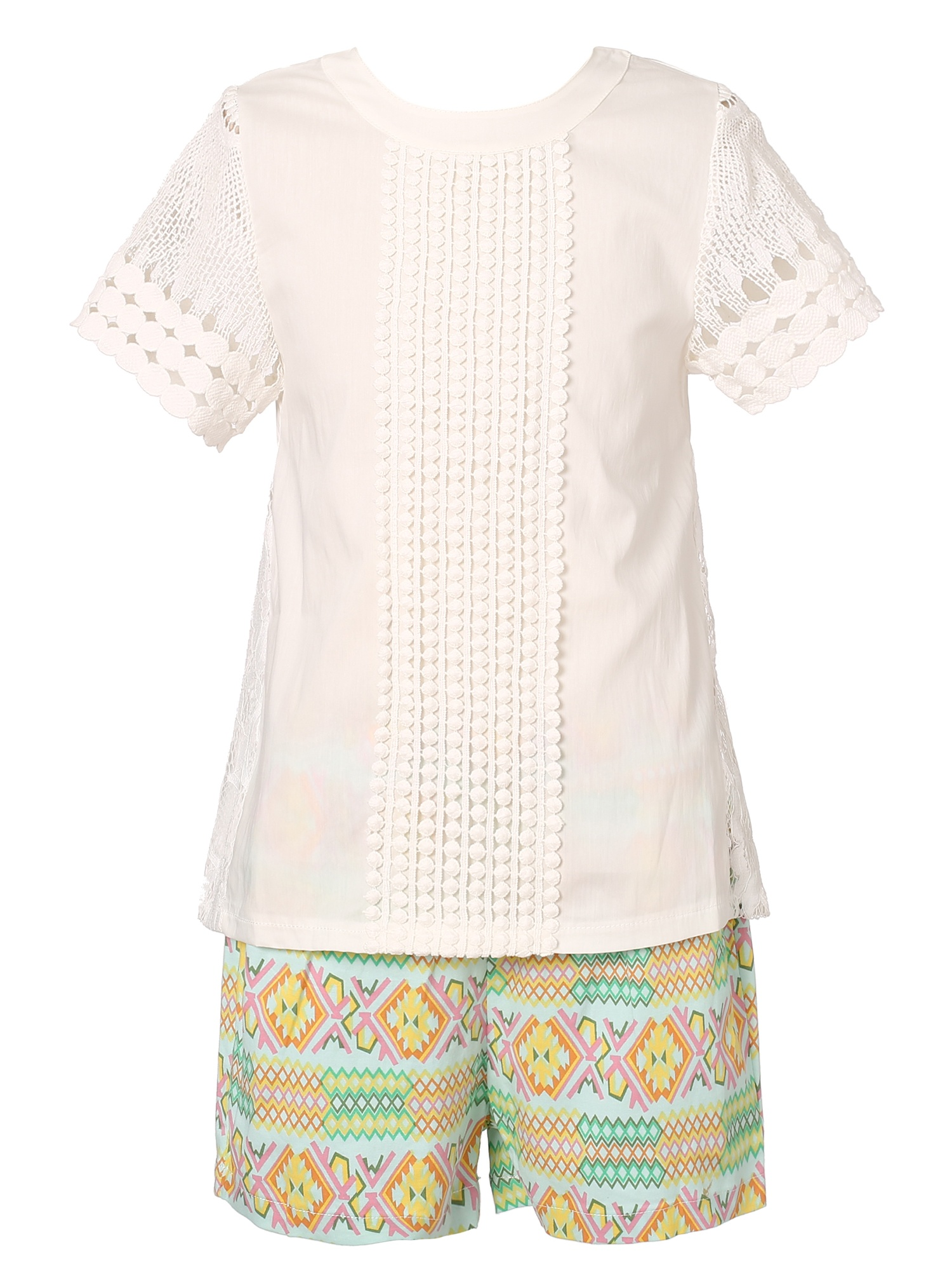 Richie House Girls' Summer Two-piece with Shorts RH1932
