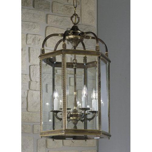 Classic Lighting European 6 Light Outdoor Hanging Lantern